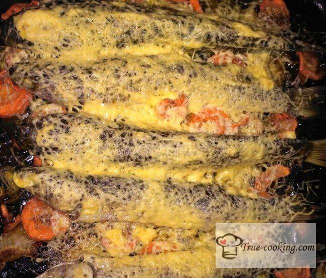 Пеленгас запеченный в духовке целиком