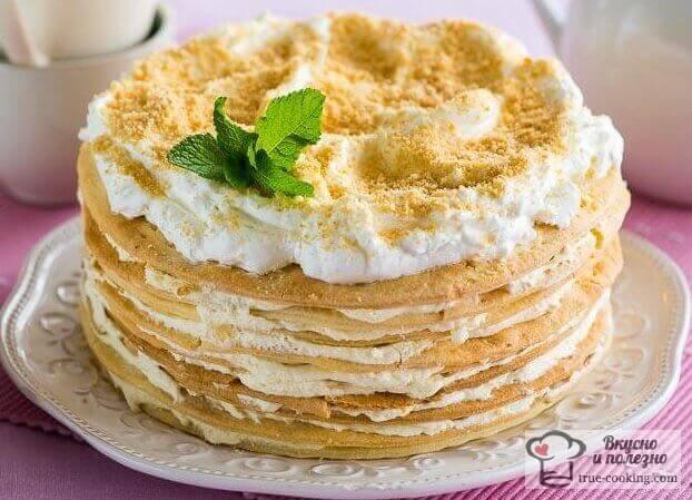 Торт наполеон классический рецепт с фото пошагово