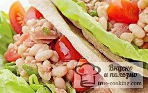 Салат с тунцом и белой фасолью рецепт - экстра быстро и полезно