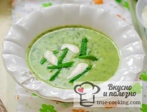 Суп куриный с черемшой