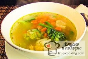 Суп витаминный рецепт с капустой цветной + брокколи