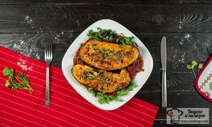 Баклажаны с мясом в духовке рецепт с фото