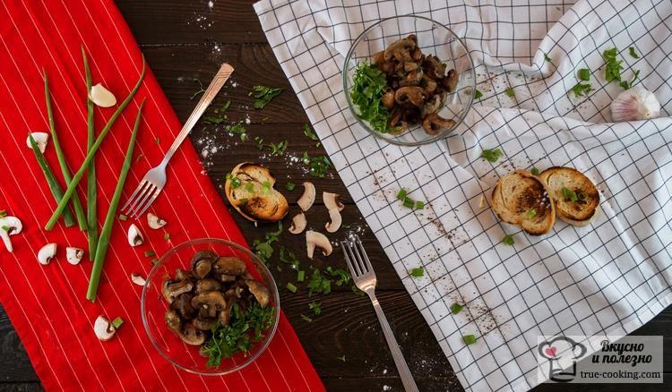 Рецепт запечённых шампиньонов в духовке
