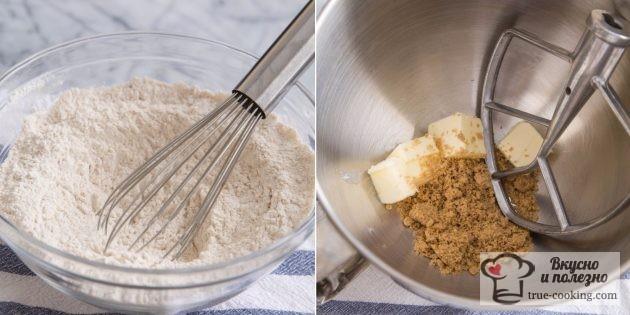 Подготовим тесто для тыквенных маффинов