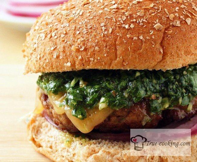Бургер рецепт в домашних условиях + соус чимичурри