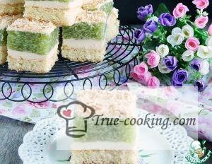 Торт без выпечки из печенья - яблочная симфония