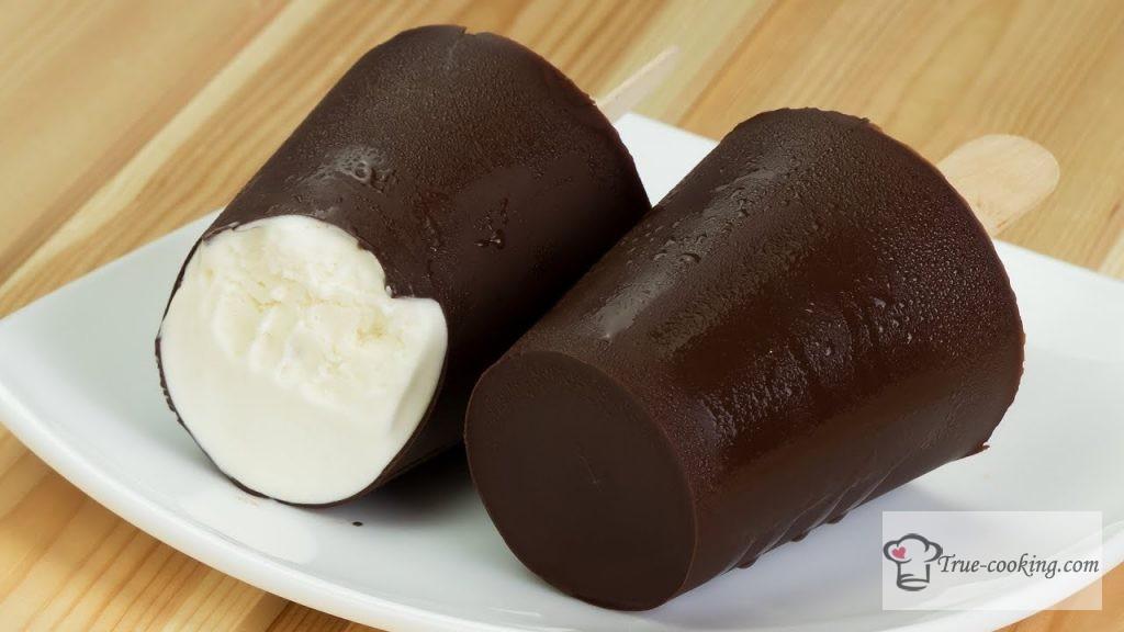 Как сделать пломбир дома - пломбир в шоколаде