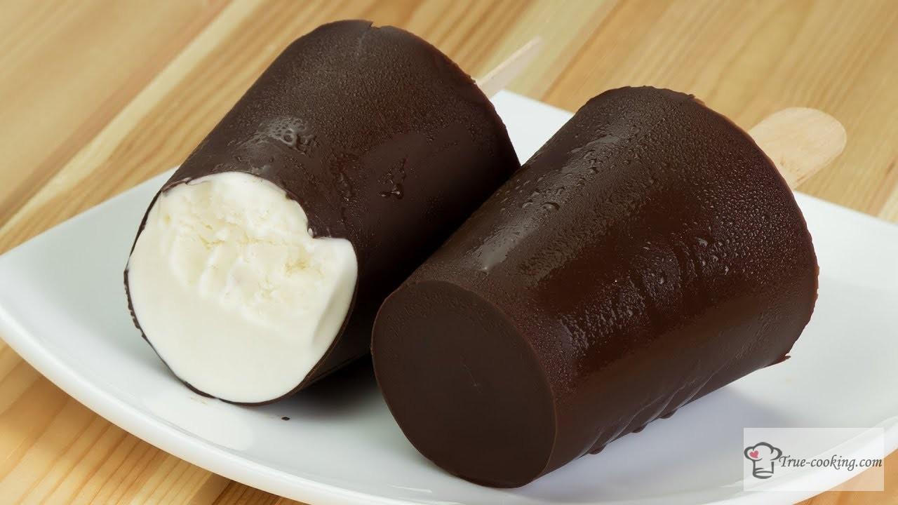 Как сделать пломбир дома — пломбир в шоколаде
