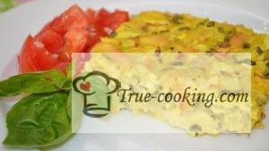 Запеканка из кабачков в духовкев яично-сметанной заливке