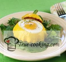 Патиссоны с яйцом