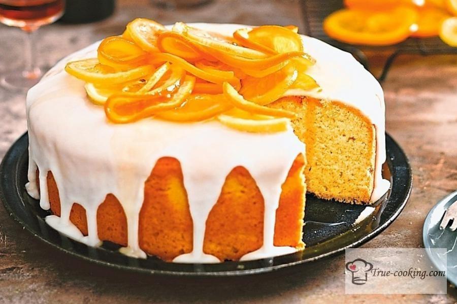Тыквенный кекс с цитрусовой помадкой