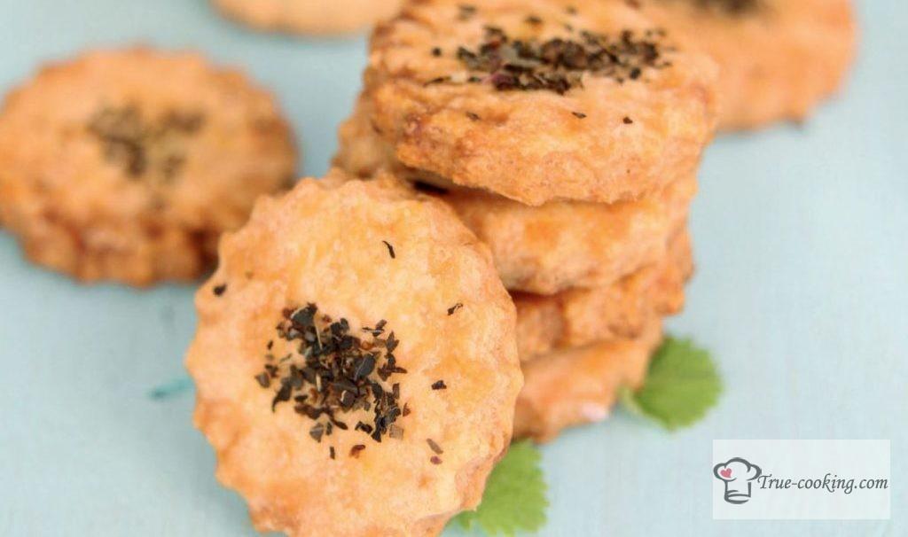 Сырное печенье с травами и лимонной цедрой