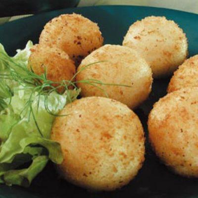 пампушки из картофеля с творогом.