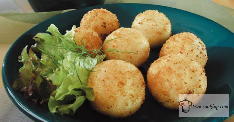 Пампушки из картофеля с творогом