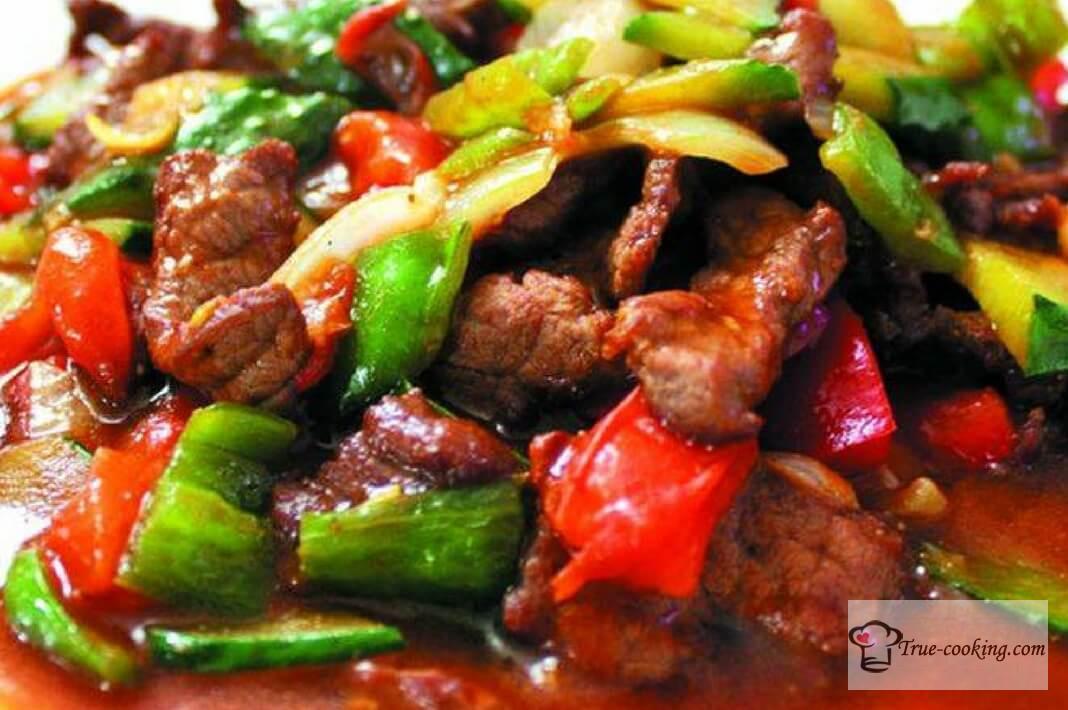 Свинина по китайски в горшочках
